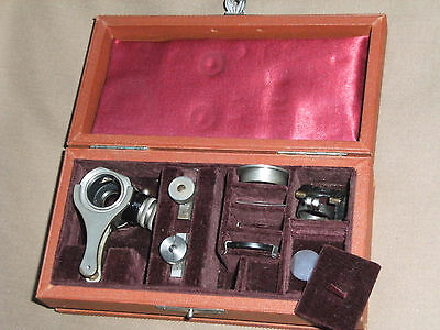 Rare Antique LEITZ Vertcal Illuminator with Access. for Old  Metal Microscope