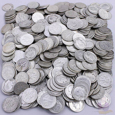 Ten Shinny Silver Roosevelt Dimes, different dates or mint marks, 1 FREE dime?#2