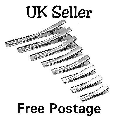 10 x crocodile / alligator clips 32mm - 95mm sizes, hairbows UK seller