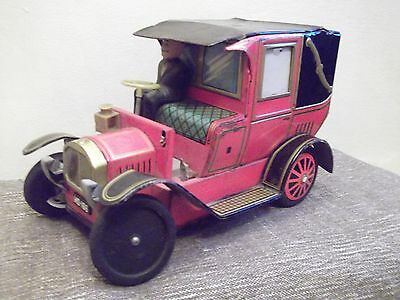 Vintage ALPS Tin Toy Car 60's Made in japan