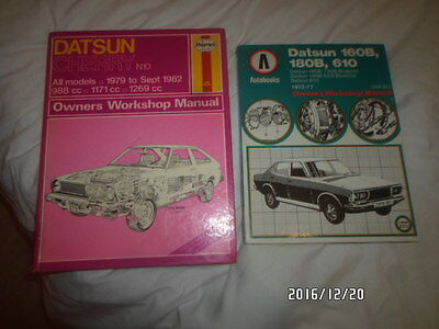 a haynes manual for datsun cherry and autobooks datsun 160B/180B