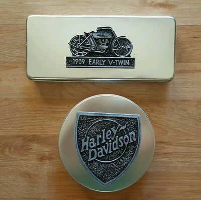 Harley Davidson Collectable Tin Cans, Lot Of 2