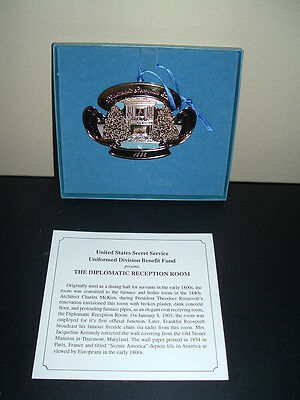 US Secret Service THE DIPLOMATIC RECEPTION ROOM ORNAMENT 1995