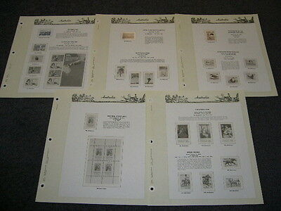 Seven Seas Album Hingeless Pages 1978 X 5 Pages Only No Stamps Used