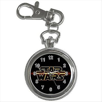NEW* HOT STAR WARS Silver Color Key Chain Ring Watch Gift