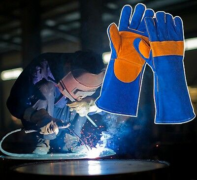 Protective Fireproofing Anti Temperature Heat Resistant Leather Welding Gloves