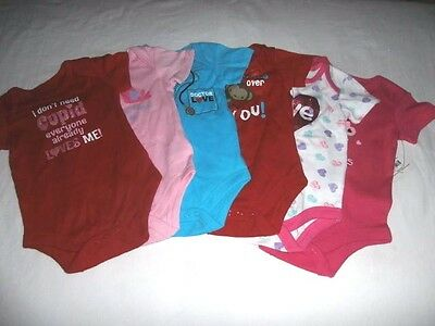 You Choose for Boys or Girls Valentines Day Infant Baby Creeper Bodysuit