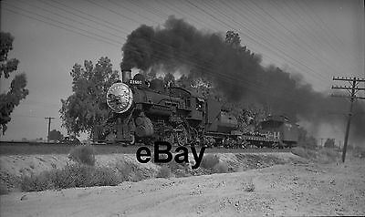 SOUTHERN PACIFIC No. 1801 Steam Engine & Train at Traver 1948 Orig 122 Negative