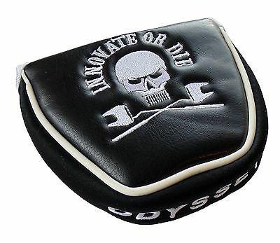 NEW Rare Limited Odyssey Innovate Or Die Black Mallet Putter Cover Headcover