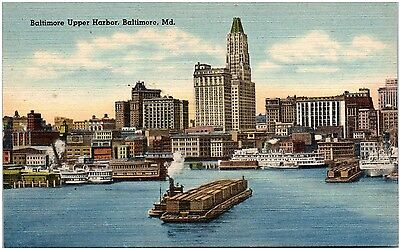 Postcard MD Baltimore View Of Upper Harbor D24