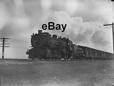SOUTHERN PACIFIC No. 3258 Steam Engine & Train at Notarb 1946 Orig 4x5 Negative