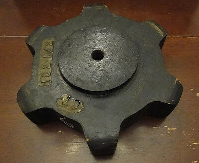 Rare Antique Vintage Wood Wooden Industrial Foundry Machine Gear Casting Mold