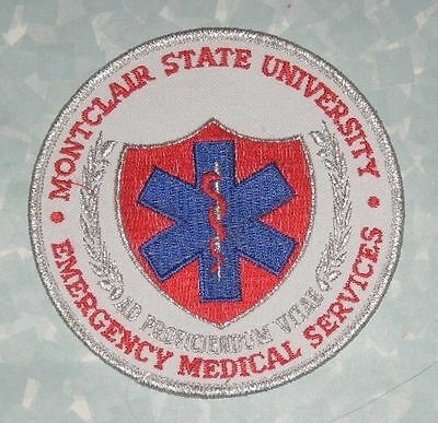 """Montclair State University Emergency Medical Services Patch - 4"""" x 4"""" New Jersey"""