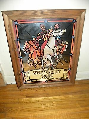 Vintage Wolfschmidt Vodka Bar Mirror The Spirit of the Czar