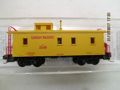 Micro-Trains N Scale 34' Wood Sheathed Caboose Union Pacific 50100