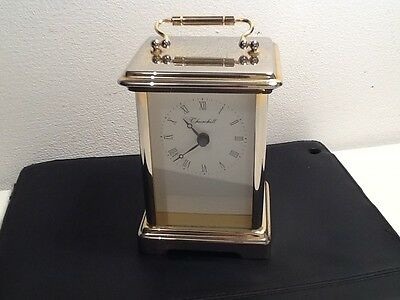 Quality Vintage Brass Carriage Clock made by Churchill.