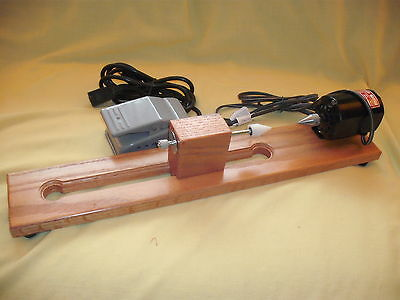 Electric bobbin & quill winder for weaving- made of Oak