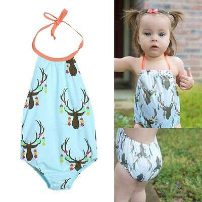 Newborn Baby Girls Cartoon Bikini Swimwear Swimsuit Bathing One Piece Beachwear