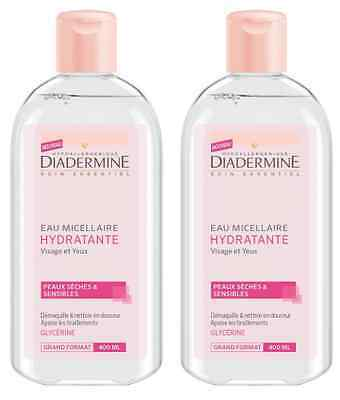Diadermine Hydratant Eau Micellaire 400 ml - Lot de 2