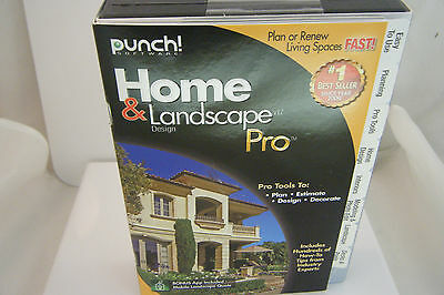 Punch Brand Home & Landscape Design Pro For Windows w/ Box - New FREE SHIPPING