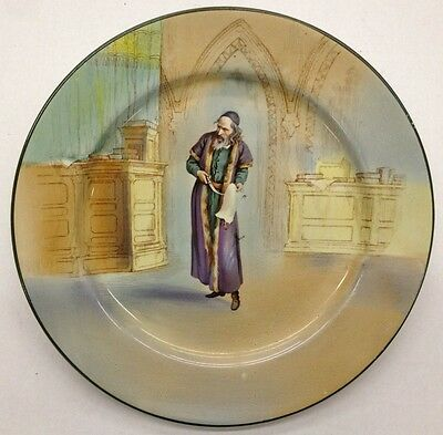 "Royal Doulton Shakespeare Series Plate ""Shylock"""