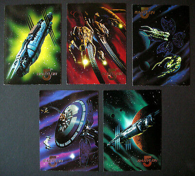 Trading Cards: 1995 Babylon 5 Season One - 5 Space Gallery Chase Cards