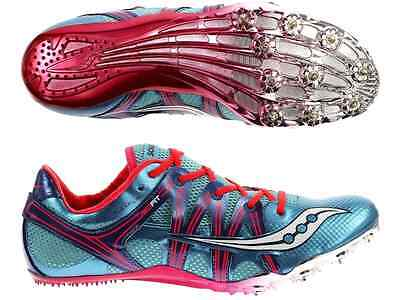 Saucony Women's Size 6.5 US Showdown 3 NEW Running Spike Shoes + Saucony Bag