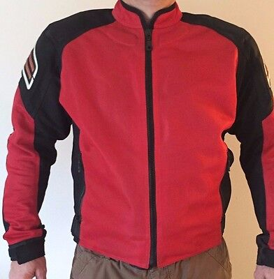 Shift motorcycle racing jacket padded protection Large Red