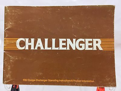 83 1983 Dodge Challenger owners manual