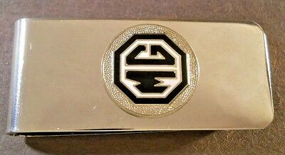 """1959 Style MGA ROADSTER Black White MG Logo Stainless Steel Money Clip 2 3/8""""X1"""""""