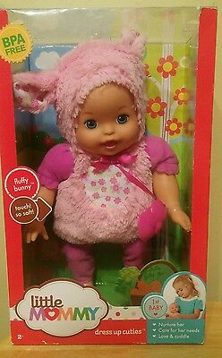Fisher Price Little Mommy Doll My First Baby. Fluffy Bunny Soft Touch Blp68-New
