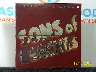 Australian Crawl Sons Of Beaches Album Lp Sample Record Promo Vinyl Vgc