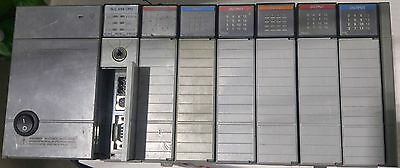 Allen Bradley SLC 5/04 1747-L542 7 Slot Rack, P2 Power Supply, 6 IO Cards