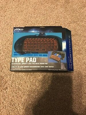 Nyko PlayStation 4 Type Pad Keypad Keyboard for PS4 Brand New