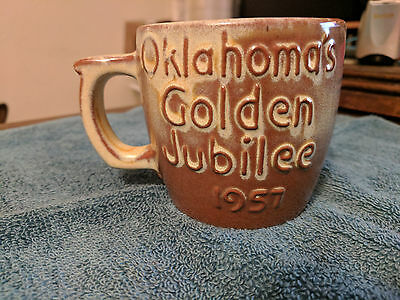 FRANKOMA Oklahoma's Golden Jubilee 1957- Cup O' Kindness Club Coffee Cup RARE