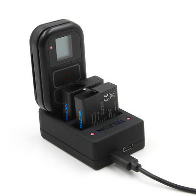 TELESIN Multi-functional Charger+Batteries+Wall Adapter Set for GoPro Hero 5