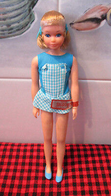 VTG.1973 NON-PLAY Mattel POSE`N PLAY SKIPPER DOLL~ORIG.OUTFIT+WRIST TAG~Head Bag