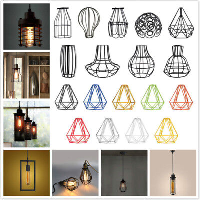 Edison Metal Pendant Light Bulb Cage Ceiling Hanging Lampshade RUSTIC Home Decor