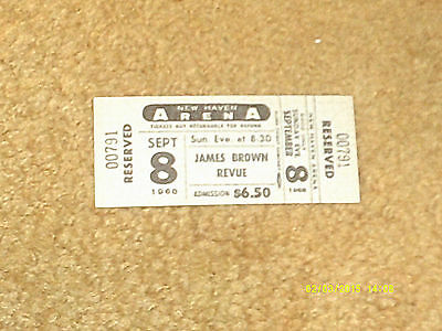 James Brown concert ticket 9/8/68 New Haven Arena, Connecticut (NM shape)