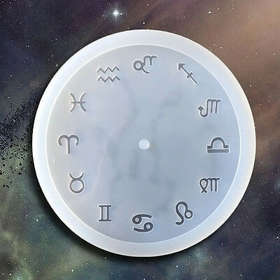 DIY Silicone Mold Resin Jewelry Making Epoxy Pendant Art Mould 12 Constellation