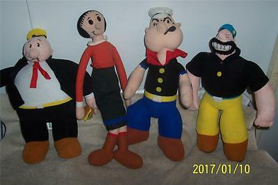 Popeye Cartoon Characters Group*king Features*olive Oil*brutus*wimpy*plush