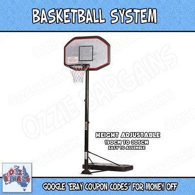 Professional Portable High Adjustable Basketball System Ring Net Stand Hoop Set