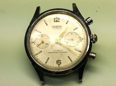 Chronograph Aureole Vintage For Repair Or Parts