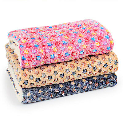 Cute Warm Pet Bed Mat Small Cat Dog Puppy Coral fleece Soft Blanket Bed Cushion