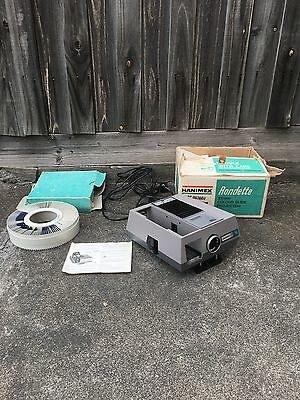 Vintage 1970's Hanimex 800 Rondette 35mm Colour Slide Projector With Remote, GWC