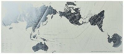 F/S Marumo Printing Geografia World Map Authagraph Platinum M-PL Made in Japan