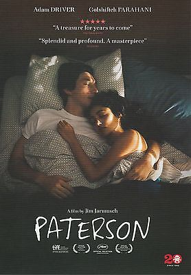 Promotional Movie Sheet - PATERSON (2016) ***Adam Driver, Jim Jarmusch***