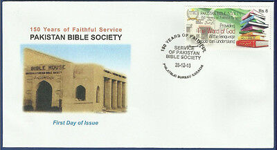 Pakistan Mnh 2013 Fdc Bible Society 150Th Year Of Service Religion Christianity