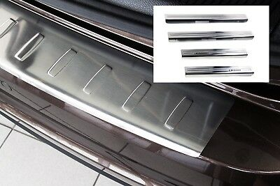 Door Sill and Loading Area Protector compatible with VW SHARAN 2 II Alhambra 2 A