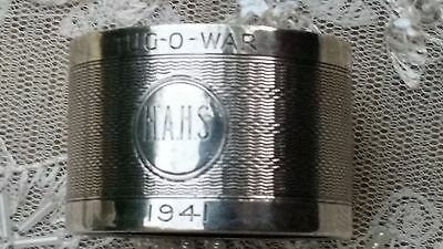 1941 Tug Of War Sterling Silver Napkin Ring